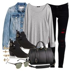 """""""Style #9663"""" by vany-alvarado ❤ liked on Polyvore featuring rag & bone, H&M, Oasis, Louis Vuitton, Ray-Ban and NLY Trend"""