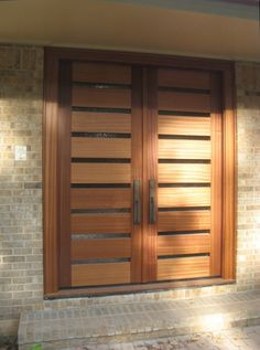 black double front doors modern awesome door designs for home fr modern double f. Modern Patio Doors, Modern Entry Door, Entry Doors With Glass, Glass Panel Door, The Doors, Glass Front Door, Glass Panels, Double Front Doors, Wooden Front Doors