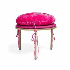abcDNA imogen velvet round stool