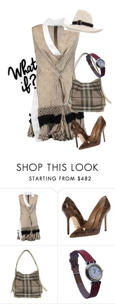"""""""dress"""" by masayuki4499 ❤ liked on Polyvore featuring Carven, Dsquared2, Burberry, Hermès and Gigi Burris Millinery"""