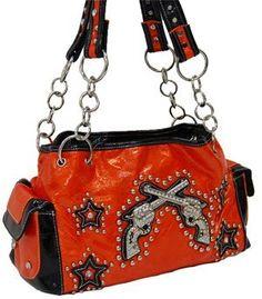 05461c989979 Orange Double Pistol Fashion Purse Prada Handbags