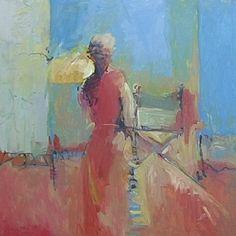 "Intimate Spaces by Dru Scott Warmath Oil ~ 40"" x 40"""