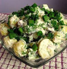 Lekcje w kuchni: Prosta sałatka ziemniaczana (do grilla) Sprouts, Potato Salad, Cabbage, Grilling, Food And Drink, Potatoes, Vegetables, Ethnic Recipes, Impreza