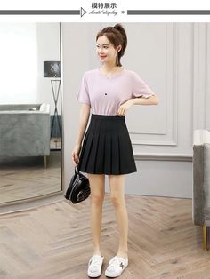 Pure Color Skirt ●Size:XS waistline length S waistline length M waistline length L waistline length XL waistline length XXL waistline Waist Skirt, High Waisted Skirt, Pleated Tennis Skirt, Suede Fabric, Short Skirts, Pure Products, Mini, Color, Fashion