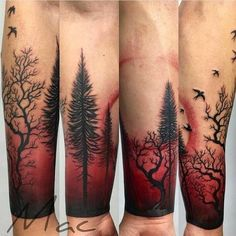 I really have an appreciation for the shades, outlines, and … – Tattoo Designs Wolf Tattoo Sleeve, Nature Tattoo Sleeve, Forearm Tattoo Men, Leg Tattoos, Body Art Tattoos, Tattoos For Guys, Tree Sleeve Tattoos, Armor Tattoo, White Tattoos