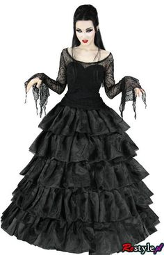 Victorian Gothic dress. Ours my fave style but I couldn't get away with it where I live and work.