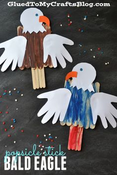 Keep your little ones entertained during 4th of July parties with this easy and fun Popsicle Stick Bald Eagle kids craft idea.