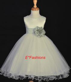 ivory and sage flower girl dress 6 months | Ivory Sage Green Child Jr Bridesmaid Wedding Flower Girl Dress 12M 2 ...