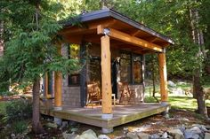 Tiny Sleeper Cabin : Tiny Cabin living by Modern Garage And Shed by Vancouver General Contractors Quantum Construction Ltd.