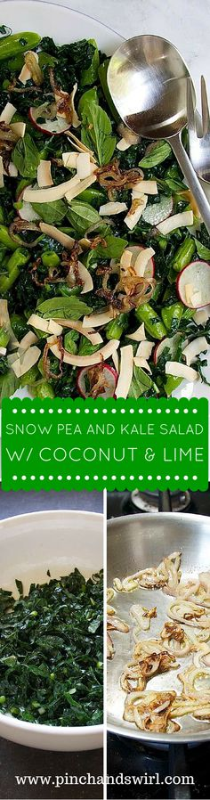 Snow Pea and Kale Sa