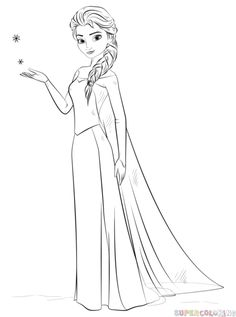 How to draw Elsa from Frozen | Step by step Drawing tutorials