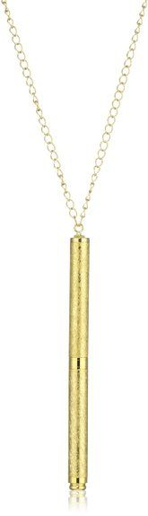 Amazon.com: 1928 Jewelry Vintage Inspired Gold-Tone Pen Necklace: Jewelry