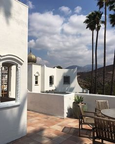 Have a great weekend! #patio #outdoors #setlife #losangeles #california #filmlocation #furstcastle #cupola #landscape #scenic