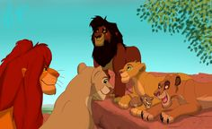 Kiara's family♥ I love that Simba and Nala are watching their granddaughter proudly, and aunt Vitani is playing with her...