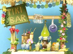 Charming Miniature Tiki Bar for your Dollhouse by DinkyWorld on Etsy