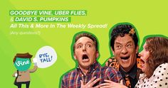 Goodbye to Vine, Uber Flies & David S. Pumpkins, All This & More in the Weekly Spread! #STPromo