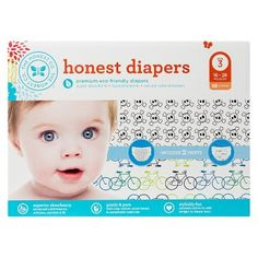Honest Diapers Value Pack, Bicycles & Skulls - Size 3 Count) Honest Diapers, Disposable Diapers, Health Facts, Latex Free, Growing Up, Packing, Stripes, Learning, Bicycles