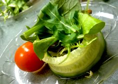 Unique approach to garden salad. Catering by Fresh Ideas.