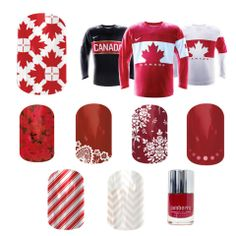 Want to show your pride for our #Canadian #Olympic #Hockey team?? #Jamberry Nails has you covered!! Order online at http://BetterThanPolish.ca