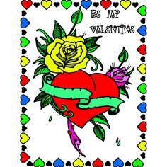 Valentines Day Coloring, Grinch