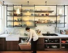Image result for kitchen without cabinets
