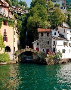 Nesso, Lago di Como, Italy // Had a great time during my Summer on Lake Como. Places To Travel, Places To See, Travel Destinations, Nesso Italy, Lac Como, Places Around The World, Around The Worlds, Wonderful Places, Beautiful Places