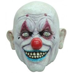 Clown Crappy Full Head Latex Mask Fancy Dress Halloween Adult in Clothes, Shoes…