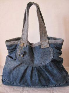 Love the design - jeans bag  -- Borsettefatteamano e......molto altro!: jeans&Pinterest&........un grazie!!!!