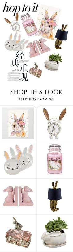 """""""Untitled #3"""" by erika-official ❤ liked on Polyvore featuring interior, interiors, interior design, home, home decor, interior decorating, Yankee Candle, springhome and bunnydecor"""