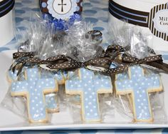 The Sugar Bee Bungalow: {Party Bee} Jake's Baptism Dessert Table