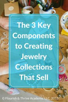 Designing your jewelry collection is a blast right. But for those of you who want to build a jewelry business, you'll want to make sure that you are including the 3 elements that will insure you designed a collection that is going to sell like hot cakes. Jewelry Tools, Wire Jewelry, Jewelry Crafts, Beaded Jewelry, Jewelery, Jewelry Ideas, Gold Jewelry, Turquoise Jewelry, Jewelry Box