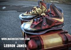 Nike Lebron X Mache Iron Man 3 sneaker concept. I want these really bad. I don't think I need a reason why.