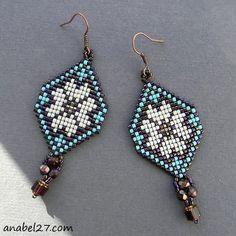 Royalbeier Beaded Earrings Oversized Handmade Seed Beaded Drop Earrings Long Beaded Navajo Indian Dangle Earrings for Women Ladies – Fine Jewelry & Collectibles Seed Bead Jewelry, Bead Jewellery, Seed Bead Earrings, Beaded Earrings, Beaded Jewelry, Bead Loom Patterns, Bracelet Patterns, Pearl Stud Earrings, Bead Loom Bracelets