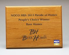 UCP specializes in creating high quality and great value custom promotional productions. Award Display, Home Inc, Parade Of Homes, Price Quote, Bamboo Cutting Board, Wood Signs, Awards, Unique, Wooden Signs