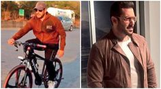 #SalmanKhan again went #cycling but this time not in Mumbai. He also revealed his buff physique and new look for #TigerZindaHai.  #ComingTrailer #Trailer #Movie #New #newmovie #Latest #Update