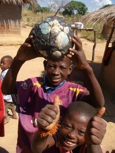 Zambia - Soccer ball made out of scrap plastic bags, etc.
