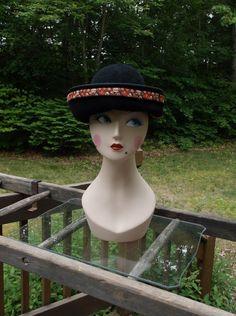 Kokin Chocolate Brown Three Corner Winter/Fall Hat with a Latina Influence!  #Kokin #WideBrim