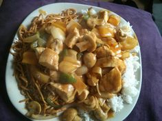 Chinese chicken curry boiled rice and noodle...... 65 cals from allowance