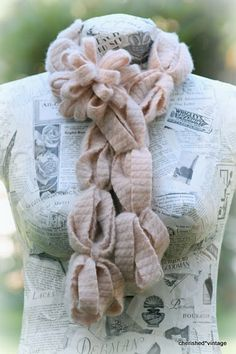 Scarf, Dress form, and other good stuff Scarf Belt, Rose Of Sharon, Flower Tutorial, Cashmere Scarf, Vintage Girls, Girly Things, Girly Stuff, Cute Pink, Scarf Styles