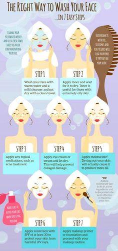 Skincare routine in AM