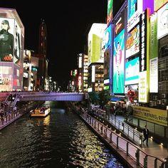 Instagram【nobu_minegishi】さんの写真をピンしています。 《淡路島から高速バスで大阪に移動してきました。 道頓堀はハロウィンで大賑わい。 大阪の街はパワーが凄い! #大阪 #道頓堀 #道頓堀川 #難波 #なんば #ハロウィン #グリコ #定番 #お約束は1分以内 #夜景 #ネオン #繁華街 #大阪旅行 #心斎橋 #大阪観光》