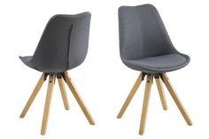 Besucherstuhl PEGLEG SQUARE natura Stoff Konferenzstuhl Loft Chair Küchenstuhl