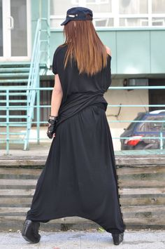 This Fashion Black Loose Harm Pants will be your Must have garment for the new season... So comfy and easy to wear at the same time a touch of elegance and style... Wide Legs and loose style will give you chic and edgy look. Wear it with sneakers,trainers ,wedges ,favorite tee or top,or hoodie or sweater or jacket ....or what else do you have in mind will be always just PERFECT, gives you chance to experiment with your outfit, as well as you feel the best. So gentle and soft fabric 90%…