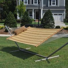 Double Quilted Hammock with Hammock Pillow