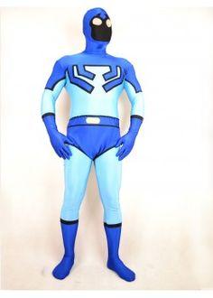 Blue Spandex Lycra Fullbody Superhero Costume