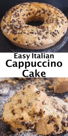 This Easy Italian Cappuccino Cake is a simple cake recipe made with coffee and chocolate chips. Nothing better than the combination of chocolate and coffee. Serve as a breakfast cake or afternoon snack cake. Italian Breakfast, Breakfast Cake, Breakfast Recipes, Best Italian Recipes, Favorite Recipes, Easy Italian Desserts, Italian Snacks, Italian Meals, Köstliche Desserts