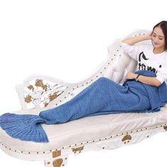 Mermaid Throw Blanket Handmade Mermaid Tail Blanket for Adult Kid Multi Colors 3 Size Soft Crochet Mermaid Blanket Crochet Mermaid Blanket, Mermaid Tail Blanket, Rave Wear, Sleeping Bag, Knitted Blankets, Bags, Kid, Handmade, Colors