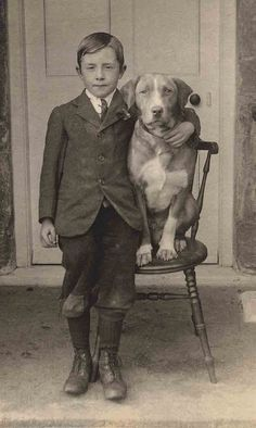 I absolutely *adore* vintage Pet Photographs. I love the expression in both their eyes here. Just gorgeous.
