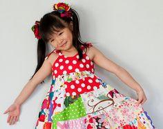 Dress Maui Dress Summer Dress Twirl Dress by KKchildrendesigns