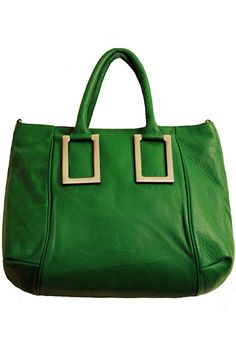 green leather satchel  from luce & alati (what a great bag!!!)